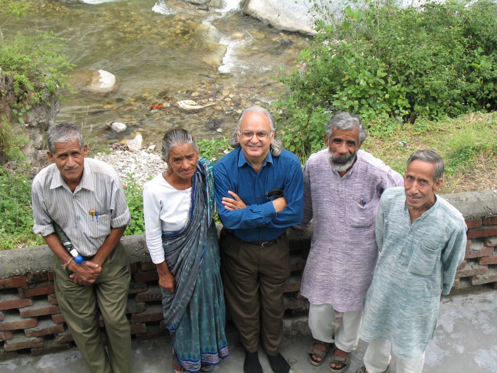 Beej Bachao Andolan and Chipko veteran activists -- Sudesha Behn, Biju Negi, Vijay Jardhari, and Dhoom Singh Negi