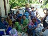 Members of the Mahila Mangal Dal of Piplet