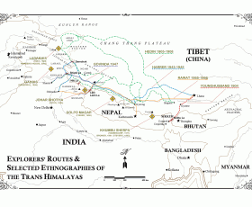 Trans Himalaya Map